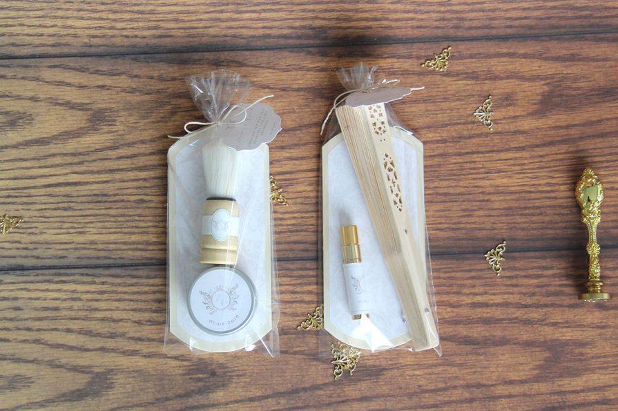 Lembranças de casamento kit de barbear + kit de beleza