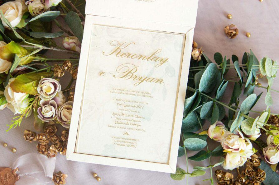 Convite de Casamento, idealizado e produzido pela Ideia Genial, especialista em convites de casamento personalizados e datas especiais.